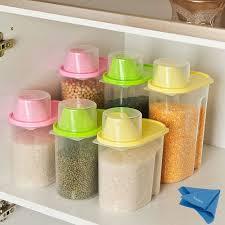 storage canisters kitchen amazon com vivian 1 9l plastic transparent kitchen food cereal