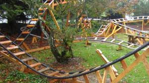 roller coaster for backyard the sweetest grandfather in the world builds backyard roller