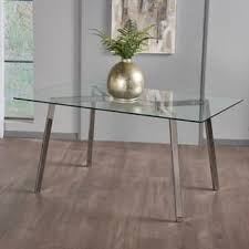 all glass dining table glass kitchen dining room tables for less overstock com