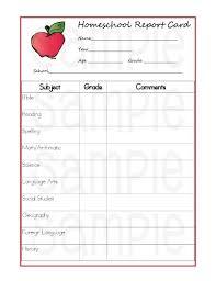 free home school free homeschool report card form homeschool free printable and