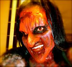 loving amanda u0027s scary halloween makeup as well as her red cat