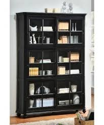 Glass Bookcase With Doors Wood Bookcase With Glass Doors Foter