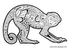 printable coloring pages monkeys adult coloring pages free monkey printable coloring pages also
