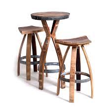 Barrel Bar Table Wine Barrel Bar Set One Table Two Stools Wine Barrels