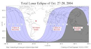Kentucky Time Zone Map by Total Lunar Eclipse October 27 28 2004