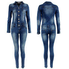 sleeve denim jumpsuit denim sleeve jumpsuits playsuits for ebay