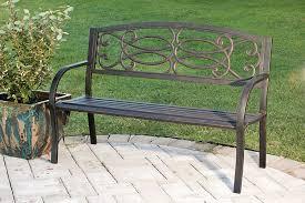 amazon com evergreen trellis cast iron garden bench outdoor