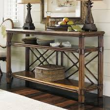 Rattan Console Table Rattan Wicker Console Tables Hayneedle