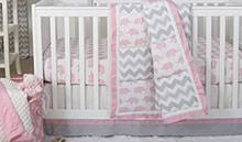 chevron baby crib bedding zig zag nursery decor