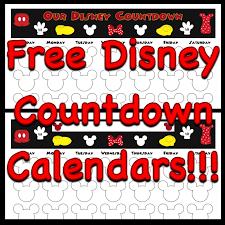 my disney countdown calendars