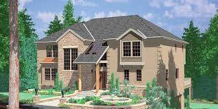daylight basement custom luxury house plan with garage in daylight basement