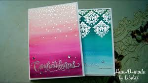 Ombre Background Handmade Card With Simon Says Stamp Ombre Background With