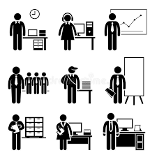 travaux de bureau carrières de professions des travaux de bureau illustration de
