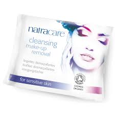 natracare organic cleansing make up removal wipes pack of 20