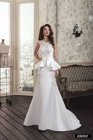 satin wedding dresses eb002 handmade satin wedding dress with peplum skirt s brides