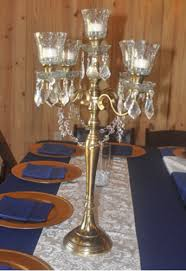 candelabra rentals linens and events gold candelabra centerpiece rental linens
