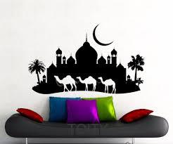 online get cheap caravan stickers decals aliexpress com alibaba camels wall decal arabian desert caravan vinyl sticker tourist agency home room interior decoration art mural