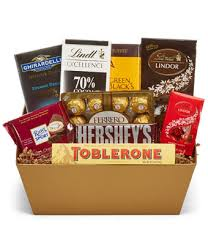 chocolate gift basket chocolate lover s basket at from you flowers