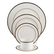 kate spade library navy 5 dinnerware place setting