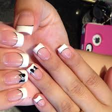 french tips are easily one of my favorite nail designs the black