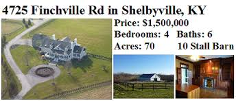 Land For Sale With Barn Shelbyville Farms For Sale Kentucky Land Horse Property In Ky