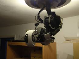 glados robotic arm ceiling lamp 3d printing instructions