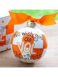 tennessee volunteers silver born to be baby boy christmas ornament
