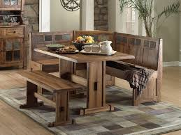 breakfast dining set kitchen rustic dining set with trestle table and bench small