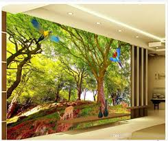treescape 3d stereo tv wall mural 3d wallpaper 3d wall papers for see larger image
