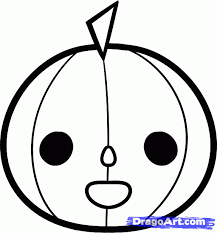 draw a halloween pumpkin for kids step by step drawing sheets