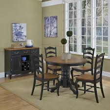 home styles the french countryside oak and rubbed white 5 piece