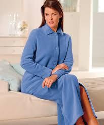 robe de chambre molleton polaire antiboulochage bleu femme