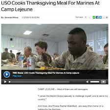 how the uso served thanksgiving dinner to troops around the world