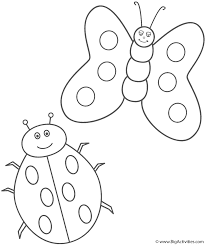 ladybug and butterfly coloring page insects