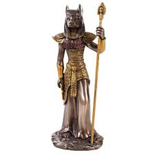 bastet cat headed egyptian statue 12 inch statue ancient