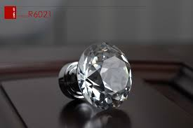 40mm k9 clear crystal glass cabinet knobs door handles