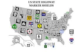 United States Map With Interstates by Every Highway Sign In The United States In One Map Road Trips