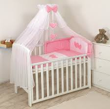 Nursery Cot Bed Sets by Luxury 9 Pcs Cotton Sateen Bedding Set With Bumper Canopy Holder