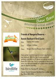 aussie backyard bird count jindivick nangara reserve western