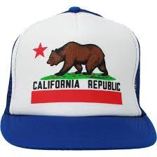 American Flag Flat Bill Hat California Republic Flag Flat Bill Snapback Mesh Truckers Cap