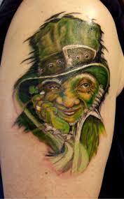 16 leprechaun tattoos on shoulder