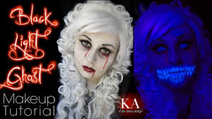 halloween ghost lights black light ghost halloween makeup tutorial youtube