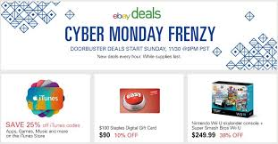 cyber monday gift card deals get your ready for some unbelievably hot ebay cyber monday