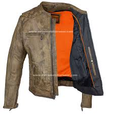 men s bike jackets mens distressed brown leather motorcycle jacket with diamond