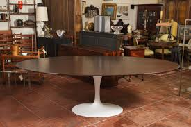 dining room good white saarinen oval dining table with beige