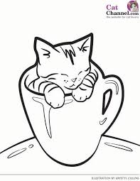55 cat coloring pages images drawings