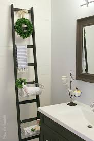 bathroom storage ideas diy diy storage ladder clean and scentsible