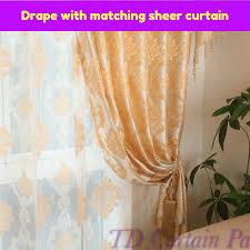 golden gold swag valance pelmet curtain drape sheer swag curtain