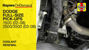 how to change the coolant on a dodge ram 1500 2002 2008 2500