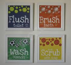 kids bathroom art bathroom rules art prints sports decor